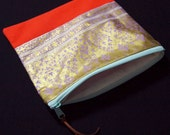 Gold Zipper Pouch - Medium