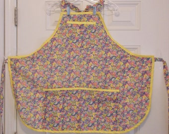Easter Apron with Eggs  & Flowers  #E 166