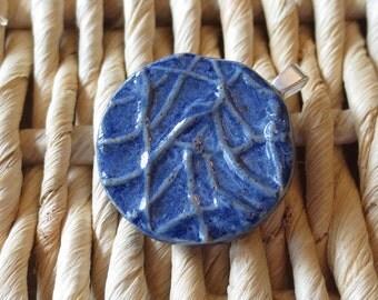 Blue Denim Ceramic Pendant