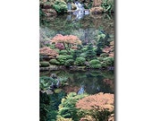 Water Features at Portland Japanese Garden Digital Painting