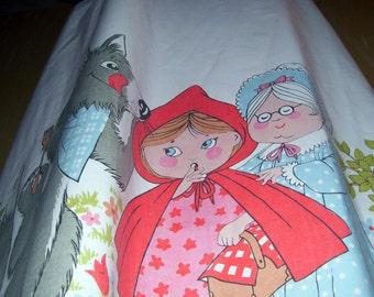 Red Riding Hood Maxi Sundress Grandma Wolf Festival Hippie Fairy Tale Story Book Long Dress OOAK Adult M L XL