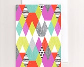 Blank Greeting Card Geometric Design