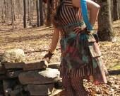 Steampunk Brown Floral Bustle Skirt