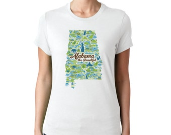 RELAXED FIT Alabama the Beautiful women's  t-shirt, 2XL