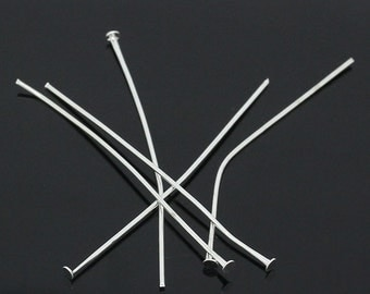 250pc 50mm bright silver finish head  pins -9663