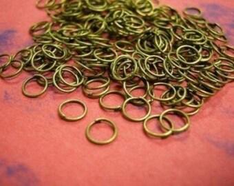 200 pcs 5mm antique bronze jump rings-2336A