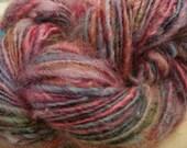 ICE PRISM Handspun Wool Yarn Romney Fleecespun 96yds 3.75oz 8wpi aspenmoonarts knitting art yarn