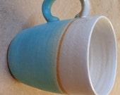 Turquoise stripe Stoneware Mug.