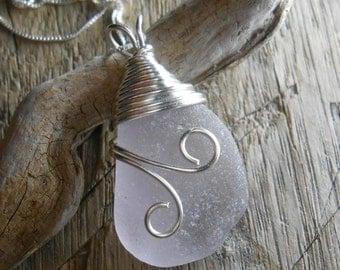 Sea Glass Necklace - Beach Glass Jewelry - WIND SWEPT
