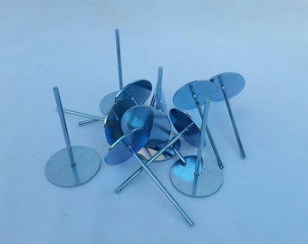 Votive Wick Pins - 6ea - for candle making, votives, candles