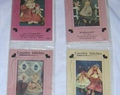 COUNTRY STITCHES Primitive Craft Patterns uncut (4) 132, 133, 134, 139 Dolls #2