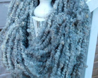 Handspun Art Yarn- Silver- NakedSpun™ JazzTurtle Handspun Artisan Yarn