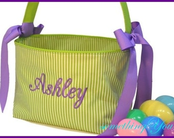 Easter Basket - Personalized Easter Basket - Custom Easter basket for girl, Monogrammed Easter basket for boy, egg hunt