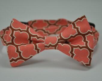 Boy's Bow Tie , Coral Bowtie