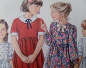 Vintage Girl's Dress Pattern - New Look 6232 Pattern for / Classic Little Girl's Dress