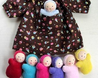 Waldorf doll clothes - pocket dolls -12 inch clothes - doll dress