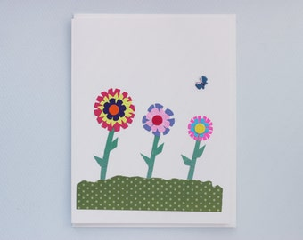 Flowers Thank You/Get Well Soon print card - by Emily Lin