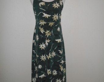90s Vintage long floral dress
