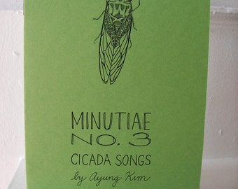 "Zine ""Minutiae No. 3: Cicada Songs"" // perzine / illustration zine / poetry zine / art zine / richmond va / virginia / poetry / summer"