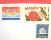 Alabama Wedding Postage Stamps, Love Swan Stamps, Alabama Crimson Camellia, Mail 20 Southern Wedding Invitations, 2 oz 71 cent postage stamp
