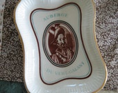 Paris souvenir dish is fabulous and French vintage Longchamp France china pin ashtray from Auberge du Vert Galant