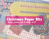 Yummy Christmas Paper Bits for collage and journaling (kit 2)