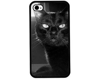 Phone Case - Black Cat (Sabbath) Photo - Hard Case for iPhone 4, 4s, 5, 5s, 5c, SE, 6, 6 Plus, 7, 7 Plus - iPod Touch 4, 5/6 - Galaxy