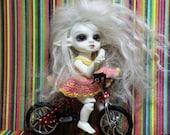 1:12 1/12 RealPuki Amelia Thimble Petite Blythe Miniature Dollhouse Little Red Bike