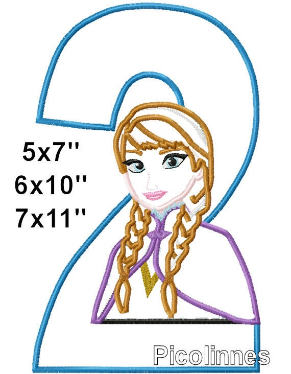 Princess sister 2 birthday machine embroidery applique for 7x11 bathroom layouts