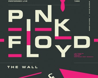 Pink Floyd The Wall reimagined concert print