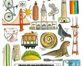 San Francisco Favorites -  Lisa Congdon Archival Art Print