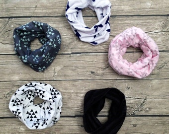 Toddler infinity scarf Neck warmer cowl