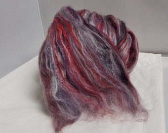 Merino and Tussah Silk- Red