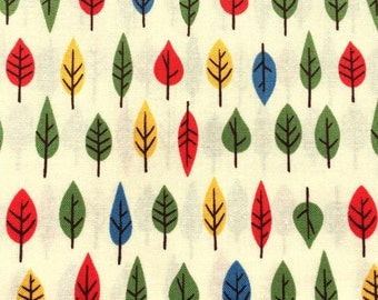 Japanese Cotton Fabric - Leaf Fabric - Japanese Fabric - 1/2 Yard - Leaves Fabric - Colorful Fabric F136