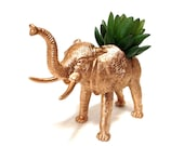 GOLD Elephant Planter Great Dorm, Nursery, Decor or Baby Shower Gift Ready to Plant