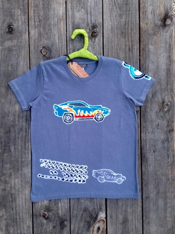 Muscle Car Boy 39 S Clothing Organic Cotton T Shirt Batik Eco