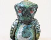 Blue Moon Owl Totem Figurine Holiday Ornament