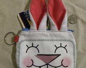 Rabbit - coin purse - fur - humor - fun