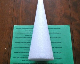 "CO12 Styrofoam Cone - approx. 12"" x 4"" - white - 1 pc"