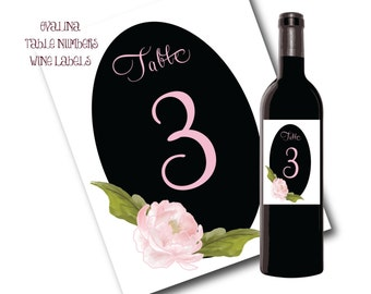 4x5 OvalinaTable Number Wine Labels