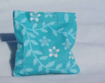 Boo boo pack- hot/cold therapy rice bag- removable cover-blue leaves and flowers