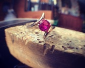 14kt Gold Ring with Ruby - Size 5