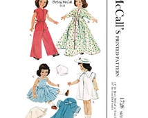 1952 - McCalls 1728 - 14 inch Betsy McCall Doll Sewing Patterns - PDF