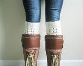 KNITTING PATTERN PDF File - Boot Cuff Knitting Pattern - Leg Warmer Knitting Pattern - Intermediate Knitting Pattern - Boot Sock Pattern