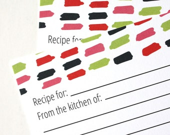 Scribble Recipe Cards