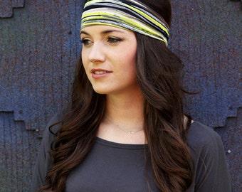 Stylish Headbands, Green Headband, Striped Headband, Stretchy Hair Headband, Funky Headband, Womens Head Bands, Womens Headband Stretchy