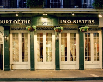 Court of the Two Sisters, New Orleans Restaurant, Royal Street Photo, New Orleans Architecture Photo, Dark Green Wall Decor, French Quarter