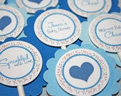 Sprinkled with Love Cupcake Toppers / Sprinkled Cupcake Toppers / Sprinkled Toppers / Sprinkled with Love Baby Shower / Sprinkle Baby Shower