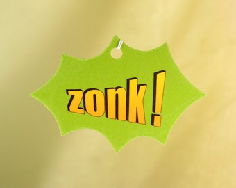 Comic Book Explosion Air Freshener, ZONK!
