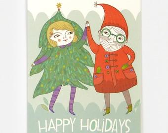 Christmas Dance - Greeting Card